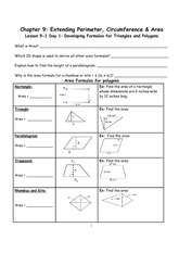 Triangles and Polygon Formulas Notes outline