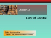 Chapter 12 Cost of Capital