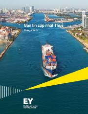 EY Vietnam_ Tax Updates_February 2015 - Vietnamese