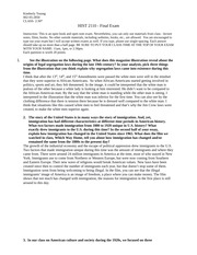 oral history project guidelines oral history project overview  4 pages hist 2110
