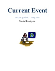 Student Generated Current Event Report