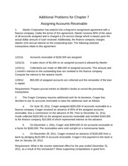 Chapter 7 additional problems keys