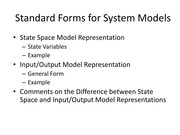 Lecture 005 Standard Forms for System Models