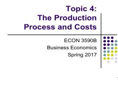 Topic 4. The Production Process and Costs