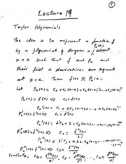 lecture 19( Taylor Polynomials)