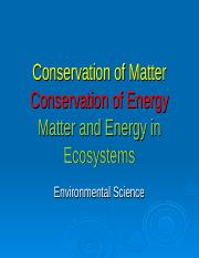 Matter and Energy in Ecosystems.ppt