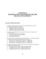 Chapter 15 EXCHANGE-RATE ADJUSTMENTS AND THE BALANCE OF PAYMENTS