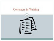 Contracts in Writing Notes