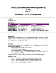 Final Project Assessment