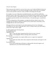 Context Papers criteria