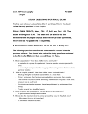 GEOL Final Review Guide