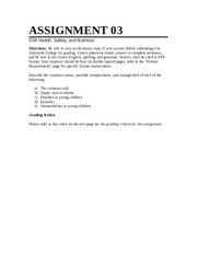 health safety and nutr essay answer steps to take to develop a 1 pages health safety and nutr essay questions 1