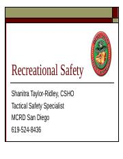 Recreational Safety New.ppt