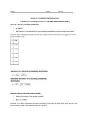 Section 4.1- Probability Distributions Part 2