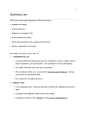 Ethical and Legal Business Environment