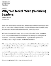 Why We Need More (Women) Leaders