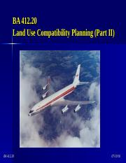 BA 412.20 - Airport Planning (Noise - Part 2)
