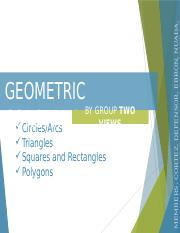 Lecture 2 - Geometric Construction 2
