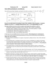 Math 105 Study Guide Test 3