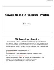 Week 3-Answers for an FTA Procedure Practice