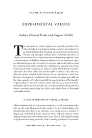 1_Sunder Rajan - Experimental Values
