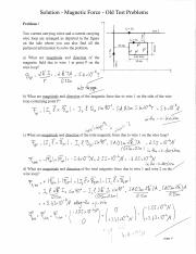 Magnetic Force  SOLUTION – Practice Old Test Problems.pdf