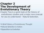 chapter 2 the evolution of evolutionary thought