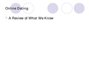 HDF 304 Lecture Online Dating-student version