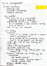 Risk Management with Horses Notes