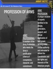 MSL101L07 Profession of Arms.pptx
