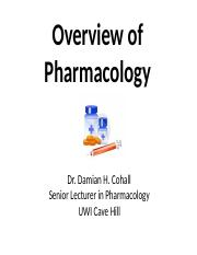 Overview of Pharmacology 2016-2