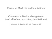 Lecture 17 - Management of commercial banks