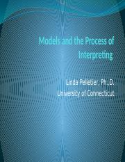 22 Models and the Process of Interpreting (1)
