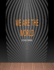 We Are the world.pptx