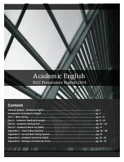 Academic English Material - ILCC Preparatorial Freshman English  Reference Bk - (NEW 2014)