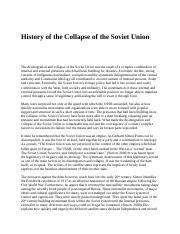 History of the Collapse of the Soviet Union.docx