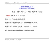 Extra Problem 3 - Probability Rules - Solution Key