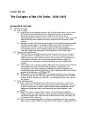 Chapter 30 The Collapse of the Old Order
