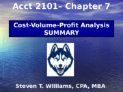 Acct2101_STW_Chapter7_CVP_Analysis-Summary-HuskyCT Version-2
