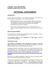 Optional Assignment