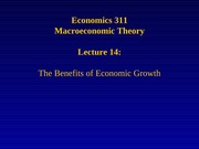 Lecture 14: The Benefits of Economic Growth