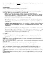 Comprehensive Review Sheet Long Version Final