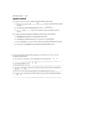 Speed Control and Manual Transmission Study Guide Answers