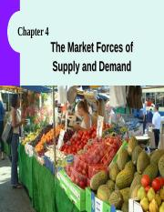 Lecture04ch04 -MarketSupply&Demand