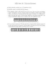 STA 1380 - Fall 15 - Ch. 7 Practice Problems