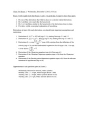 Orgo I Review Packet 1