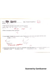 newtons second law quiz - phys 107
