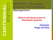 Class 4 - Ethical and Social Issues in Information Systems S13