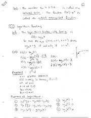 Logarithmic Functions and Limits
