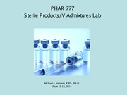 6-PH777 Sterile Products Sep 15-18 '14